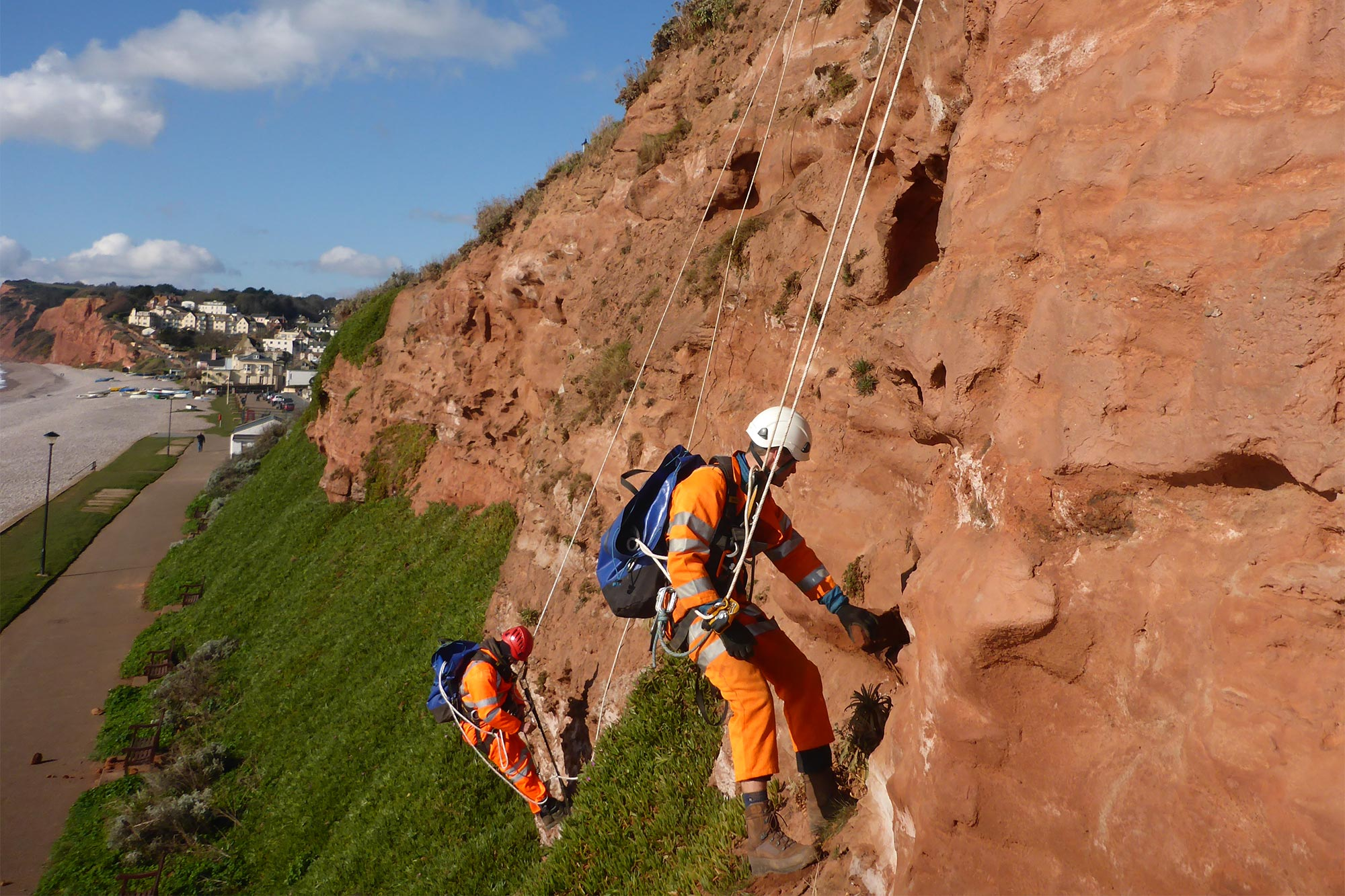 East Devon cliff inspections