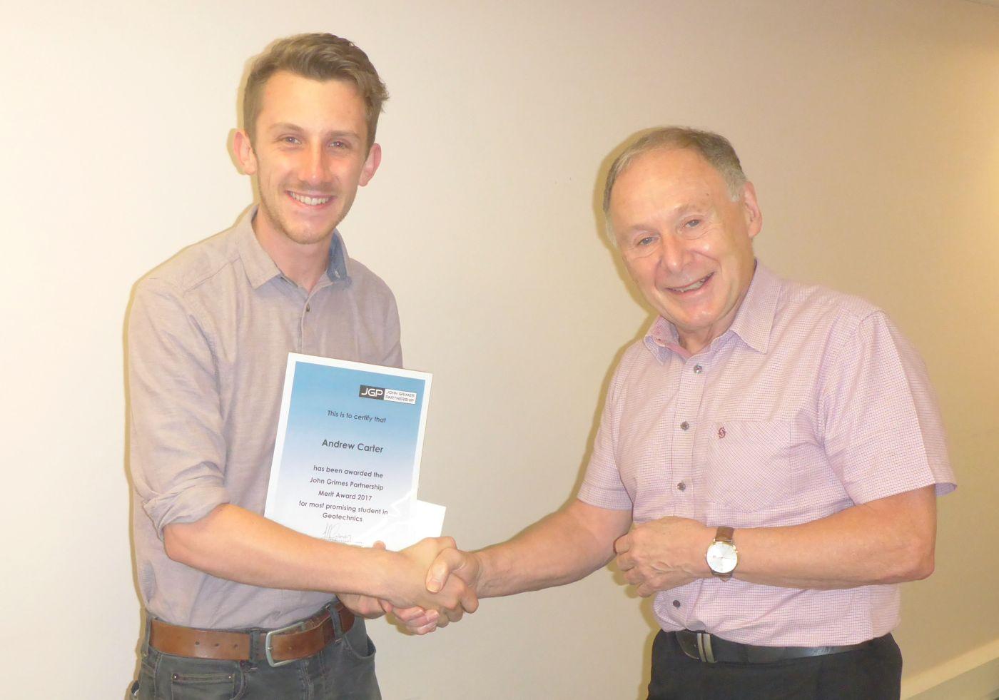Geotechnics Student Merit Award