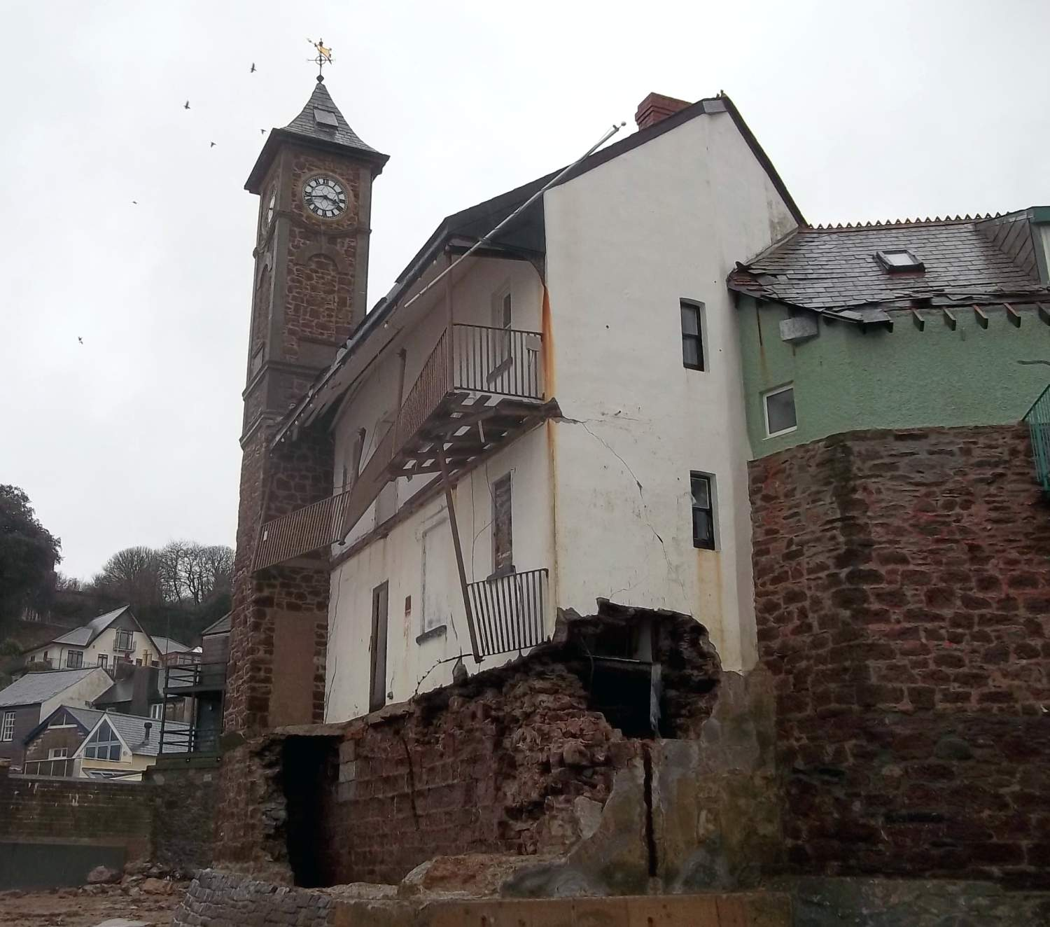 Kingsand Clock Tower and Institute Building, Cornwall